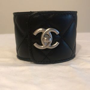 CHANEL Jewelry - Chanel quilted lambskin cuff